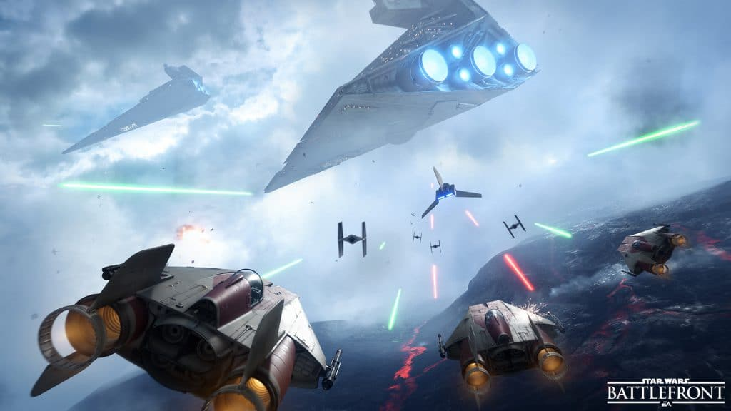Star Wars Battlefront - Fighter Squadron - A Wing vs Imperial Shuttle