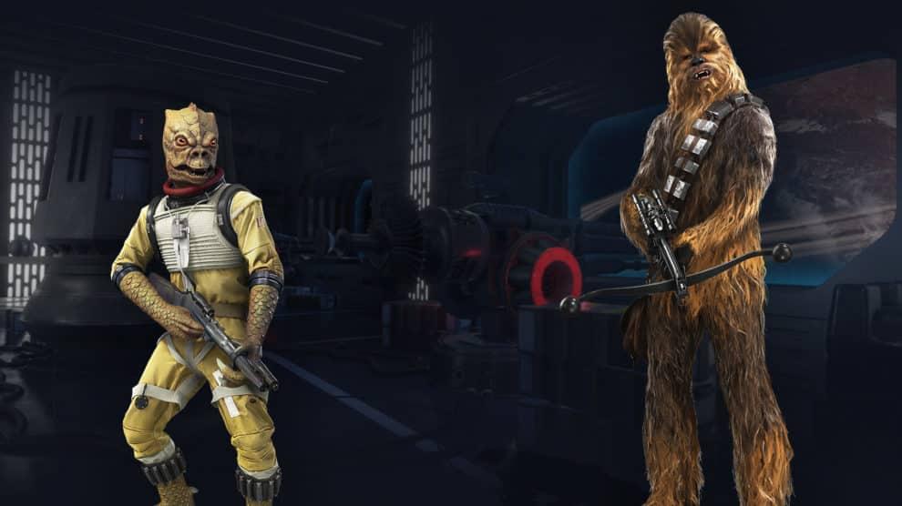Wookiee Chewbacca und der Kopfgeldjäger Bossk